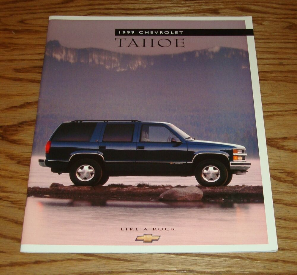 hight resolution of details about original 1999 chevrolet truck tahoe sales brochure 99 chevy 1 98