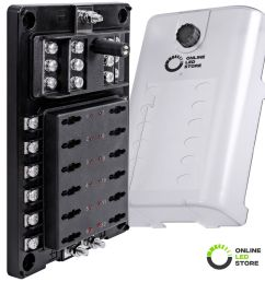details about 12 way 12 ground atc ato atf blade fuse box 200a block w led indicator cover [ 1000 x 1000 Pixel ]
