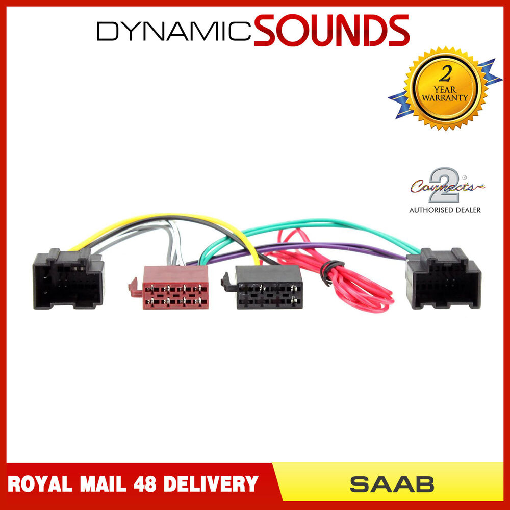 hight resolution of ct20sa03 iso lead stereo head unit adaptor wiring harness for saab 9details about ct20sa03 iso lead