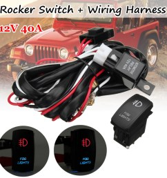 details about universal red led fog light wiring harness fuse laser rocker switch relay 12v dc [ 1000 x 1000 Pixel ]