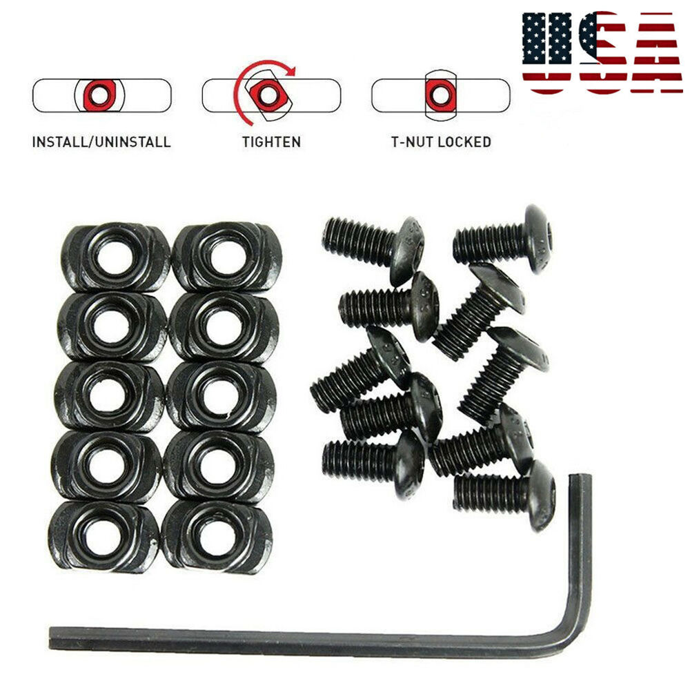 10 Pack M-LOK Screw and Nut Replacement for MLOK Handguard