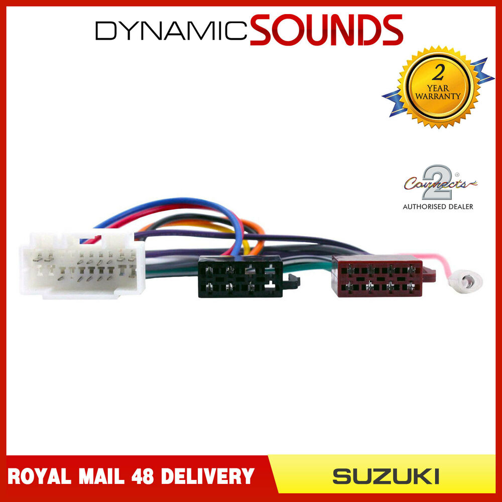 hight resolution of details about ct20sz02 car stereo radio iso wiring harness adaptor loom for suzuki