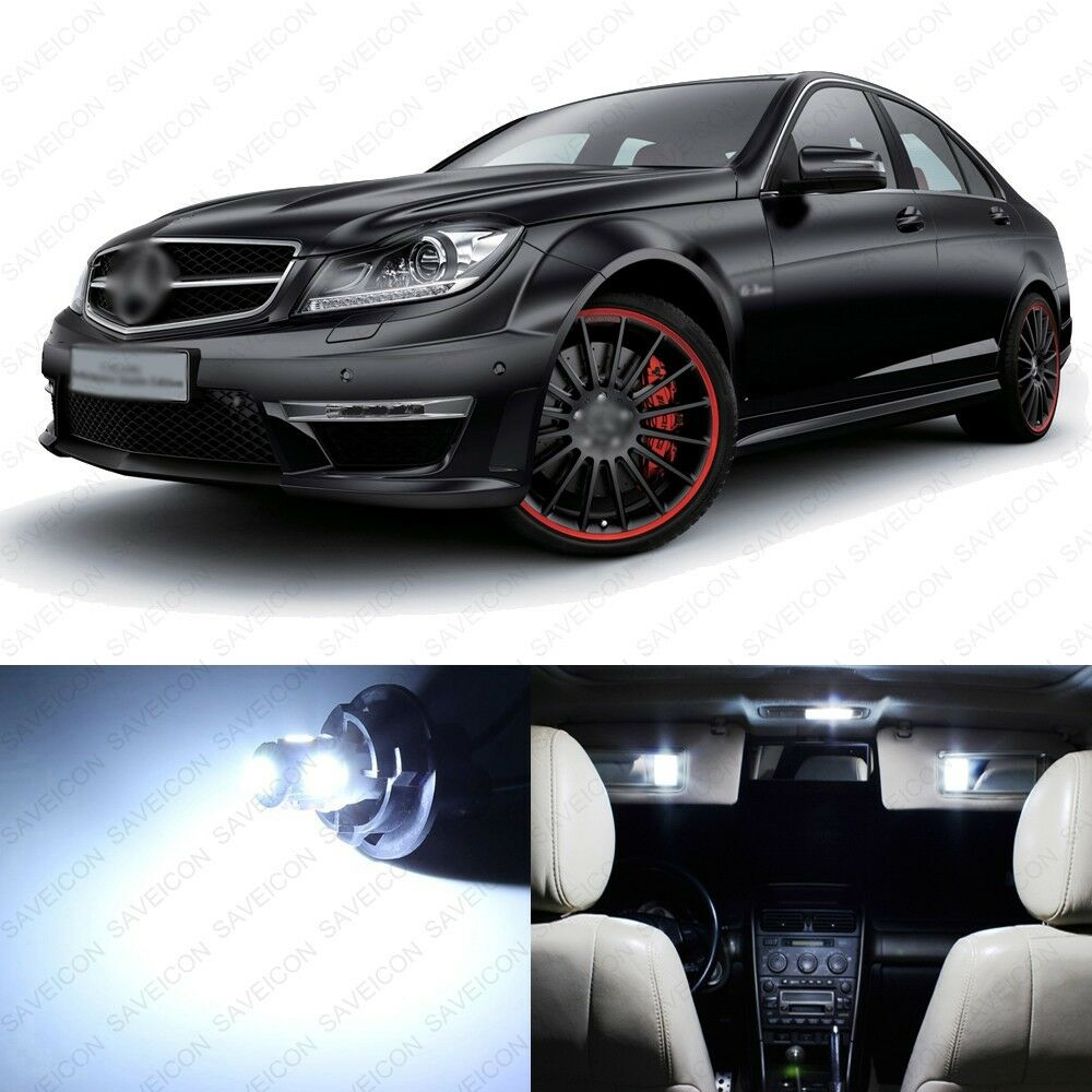 medium resolution of details about 18 x white led interior light package for 2008 2013 mercedes c250 c300 tool