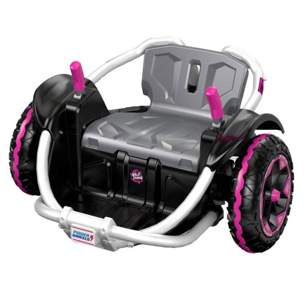 Power Wheels Wild Battery Powered 12 Volt Spinning Ride Vehicle Pink 887961301823