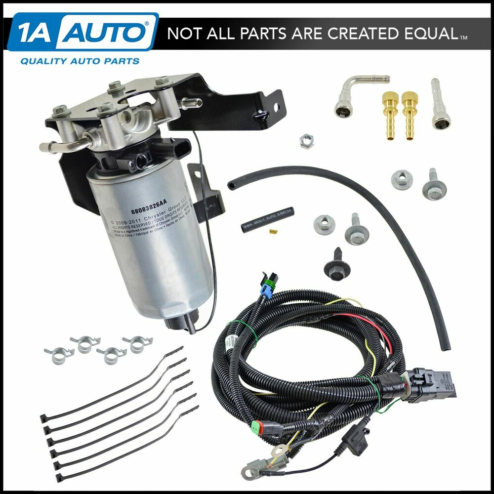 hight resolution of details about oem severe duty add on fuel filter system kit for dodge ram 5 9l diesel new