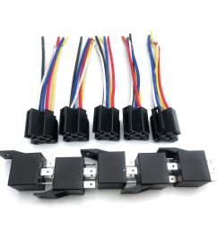 details about 5 pack dc 12v 30 40 amp car spdt automotive relay 5 pin with harness socket set [ 1000 x 1000 Pixel ]