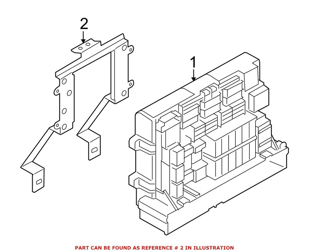 hight resolution of details about for bmw genuine fuse box bracket 61149210701