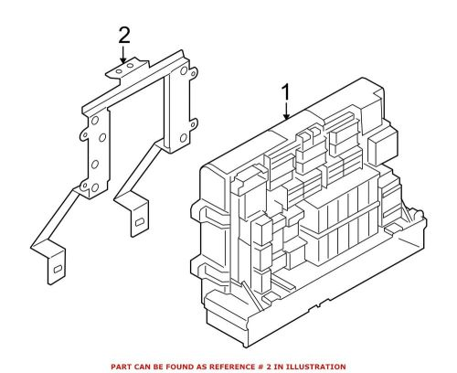 small resolution of details about for bmw genuine fuse box bracket 61149210701