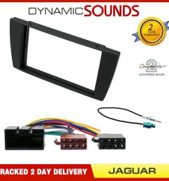 details about jaguar x type 2002 car stereo double din fascia panel iso aerial kit [ 1000 x 1000 Pixel ]