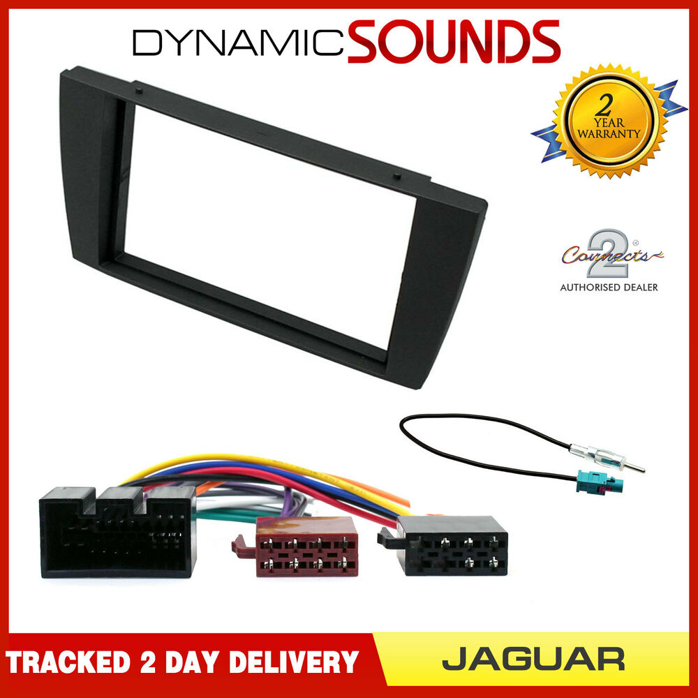 hight resolution of details about jaguar x type 2002 car stereo double din fascia panel iso aerial kit
