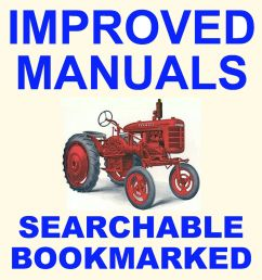 details about farmall ih a av tractor factory service manual parts ipc catalog 2 manuals cd [ 1000 x 1000 Pixel ]