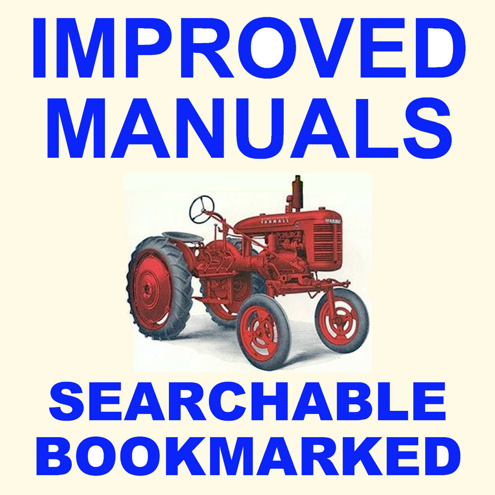 medium resolution of details about farmall ih a av tractor factory service manual parts ipc catalog 2 manuals cd