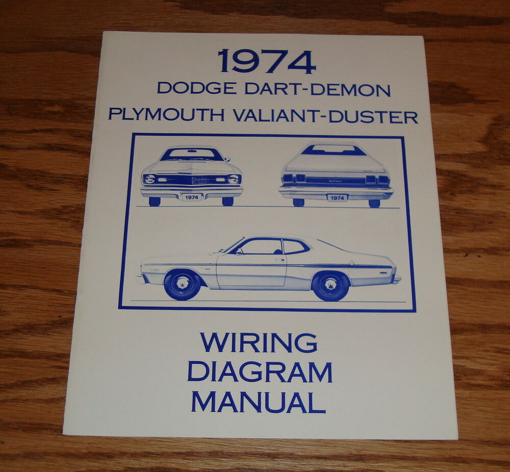hight resolution of details about 1974 dodge dart demon plymouth valiant duster wiring diagram manual 74