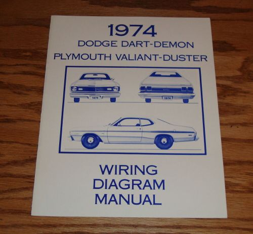 small resolution of details about 1974 dodge dart demon plymouth valiant duster wiring diagram manual 74