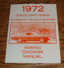 details about 1972 dodge dart demon plymouth valiant duster wiring diagram manual 72 [ 994 x 1000 Pixel ]