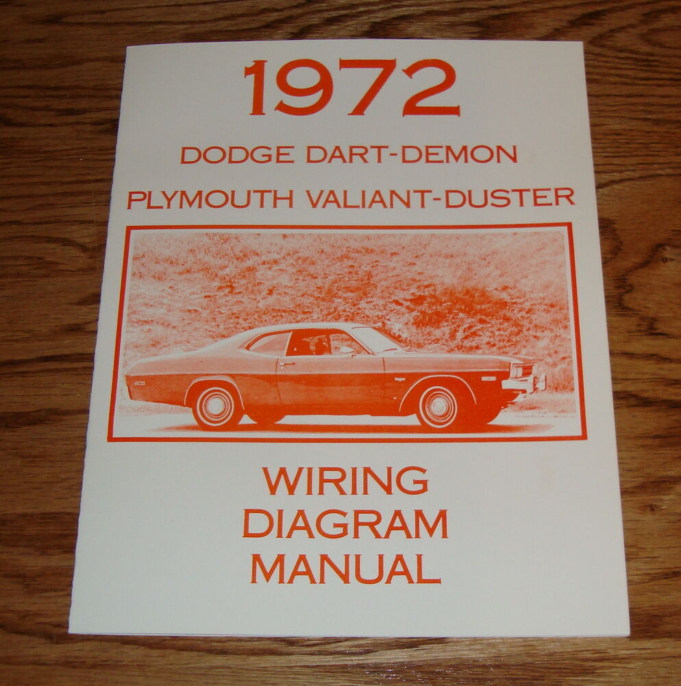 hight resolution of details about 1972 dodge dart demon plymouth valiant duster wiring diagram manual 72