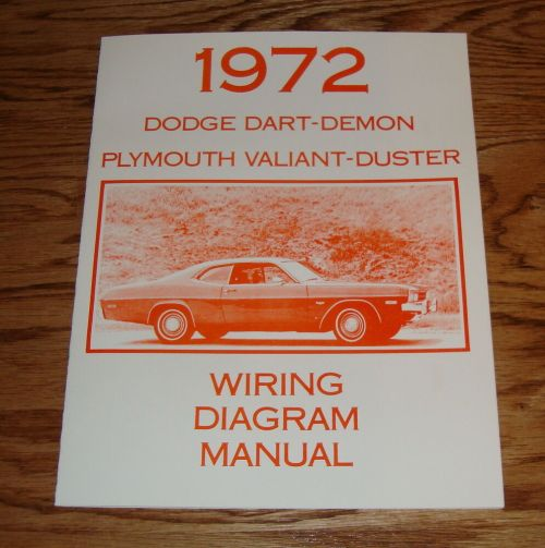 small resolution of details about 1972 dodge dart demon plymouth valiant duster wiring diagram manual 72