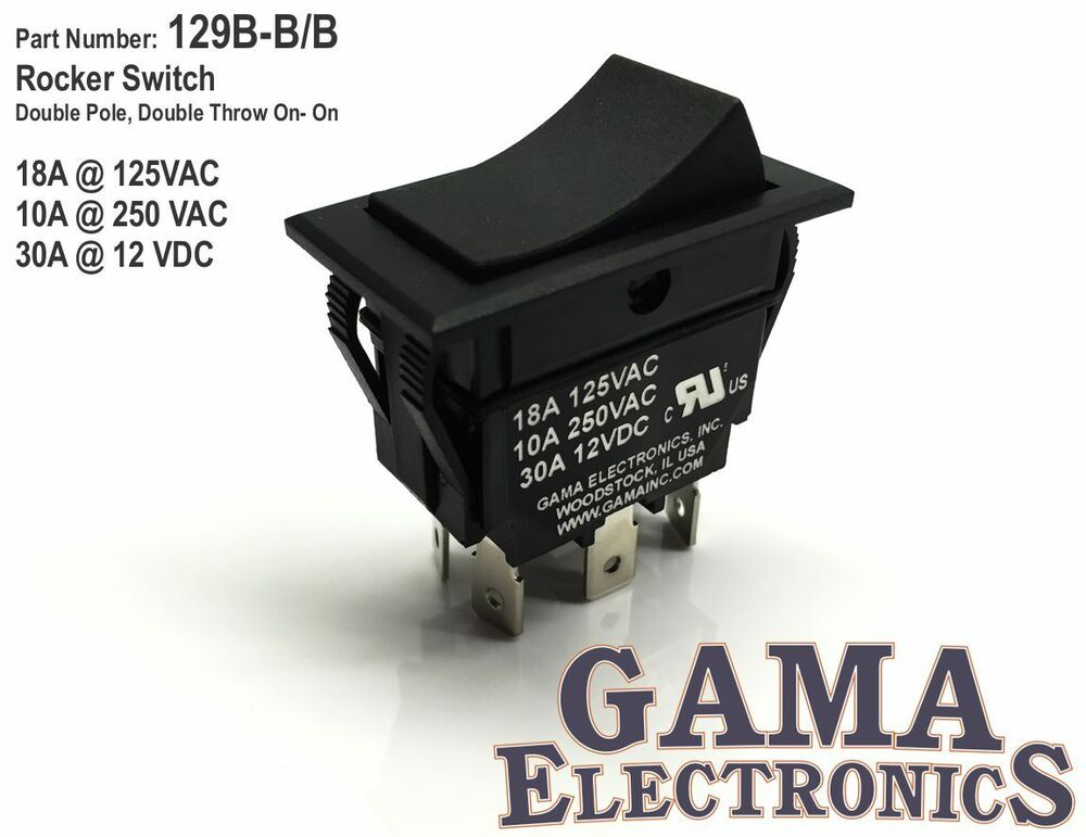 30 Amp Double Pole Double Throw On On Rocker Switch
