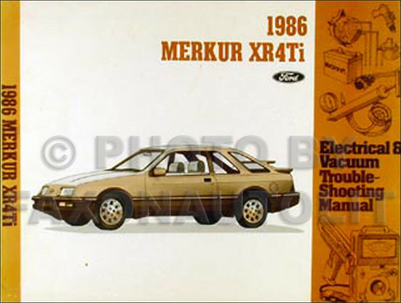 1988 Mercury Merkur Xr4ti Oem Electrical Wiring Evtm Service Manual