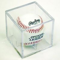 4 SQUARE BASEBALL DISPLAY CASE CUBE HOLDERS w/ Cradle | eBay