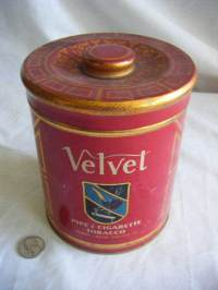 large tobacco tin art nouveau style Velvet pipe tobacco