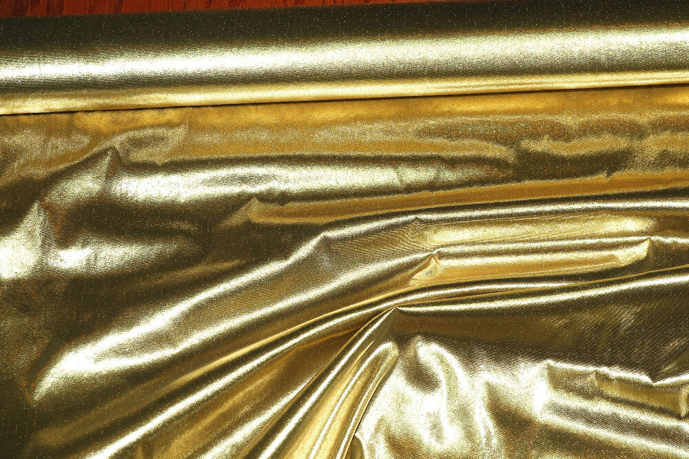 TISSUE LAME FABRIC GOLD 1 YD 44 WIDE COSTUME DECORATING