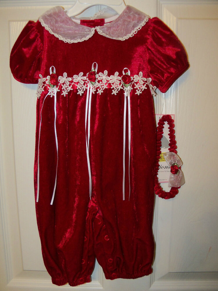 Valentines Day Velvet Outfit Rare Editions Infant Baby