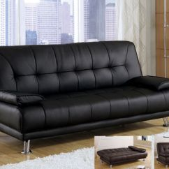 Brown Microfiber Sofa Bed And Loveseat Set New Benson Black Or Bycast Leather Futon | Ebay