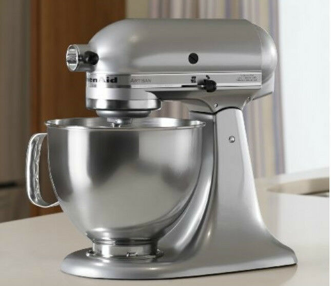 kitchen aid colors modern table kitchenaid stand mixer tilt 5-quart rrk150mc metallic ...