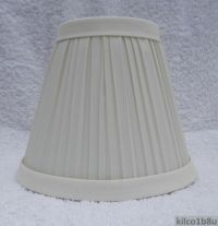 New IVORY Pleated Fabric Mini Chandelier Lamp Shade ...