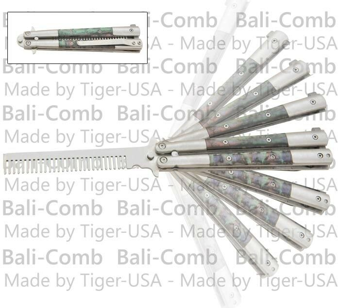Balicomb Training Practice Butterfly Knife Abalone Handle