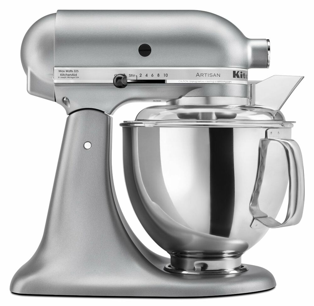 KitchenAid Stand Mixer tilt 5Quart ksm150pssm Artisan Silver Metallic New 50946877020  eBay