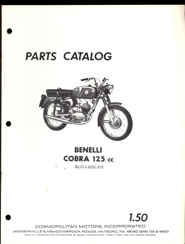 BENELLI COBRA 125cc / SCRAMBLER / PARTS MANUAL
