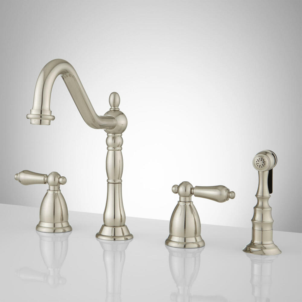 commercial kitchen faucets with sprayer white island stools brushed satin nickel faucet contemporary euro ...