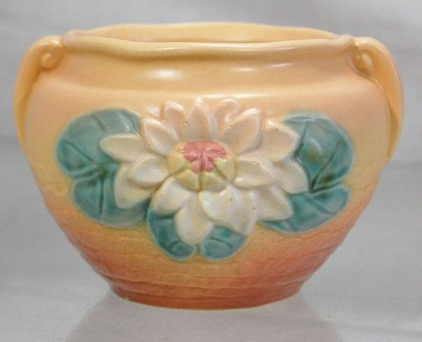 1949 Hull Art Usa Water Lily Pottery L-23-5 1 2 Jardiniere