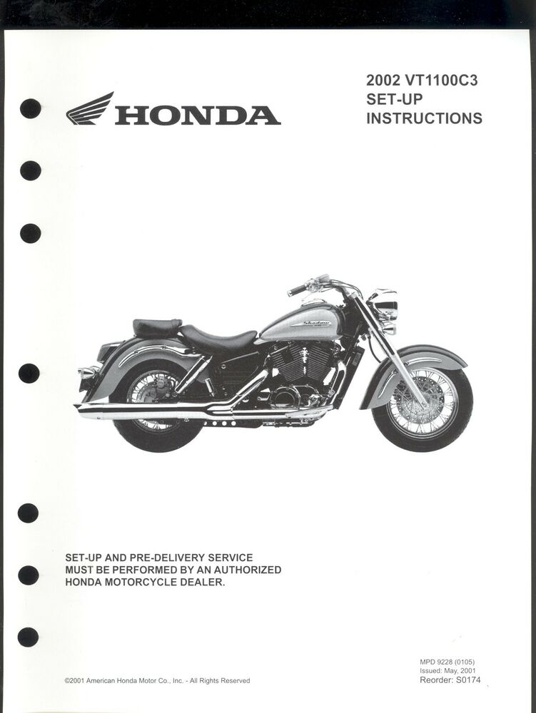 2002 HONDA VT1100C3 MOTORCYCLE SET UP & PRE-DELIVERY