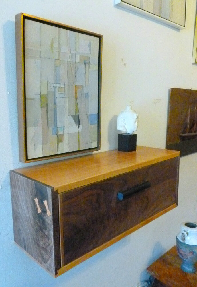 Mid Century Modern Style Floating Nightstand Wall Shelf