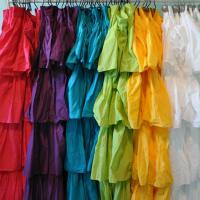 Ruffle Fabric Shower Curtain Assorted Color | eBay