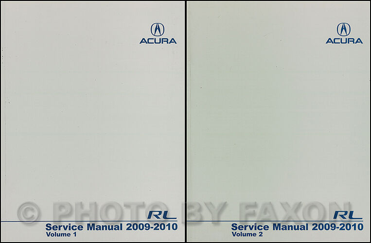 2010 Acura RL Shop Manual NEW 2 Volume Set Original OEM