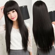 womens girls flat bangs long