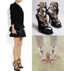 Stylish Ladies Angel Wing Heels Open Toe Sandals Shoes