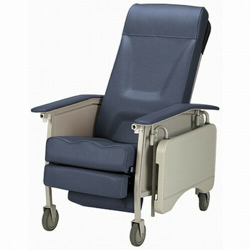 upright recliner chairs lounge cheap invacare deluxe 3 three position geri chair medical clinical patient | ebay