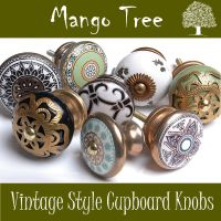 Vintage Style Antique Finished Ceramic Cupboard Knobs ...