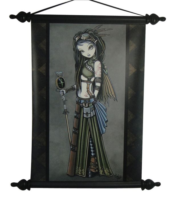Myka Jelina Cloudburst Winged Fairy Wall Scroll Decor