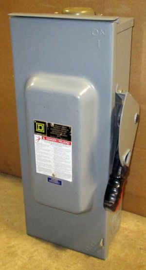 O Square D 100 Amp Safety Switch H223NRB 3R Outdoor