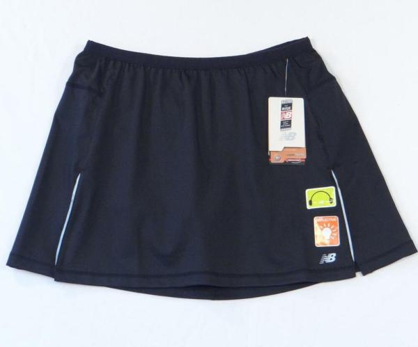 Balance Black Stretch Running Skort Skirt With Attached Shorts Womans Nwt