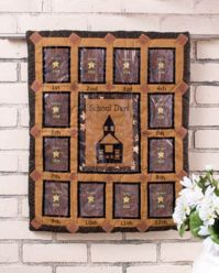SCHOOL DAYS PHOTO QUILT WALLHANGING FABRIC PICTURE HOLDERS ...