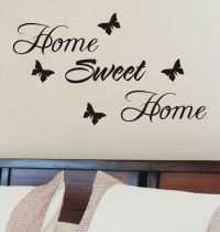 Home sweet home wall sticker quote vinyl wall art home ...