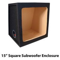 "Car Audio Subwoofer Enclosure Square Kicker 15"" Box Bass ..."