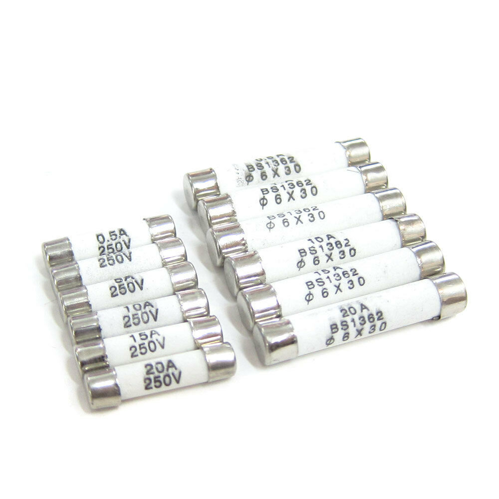 Ceramic Fuses Fast Blow 5x20mm 6x30mm 0.5A 1A 5A 10A 15A